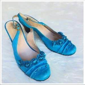 Grassi Tooled Genuine Leather Blue/Turquoise Stain